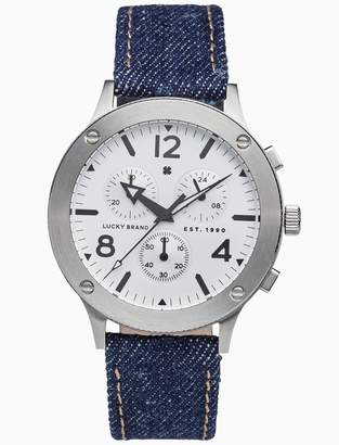 Lucky Brand Rockpoint Multi-Function Denim Watch, 42mm