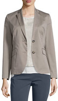 Peserico Two-Button Cotton Blazer, Taupe