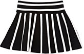 Milly Striped Compact Knit Flared Skirt