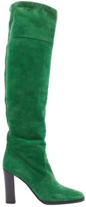 Hermes \N Green Suede Boots