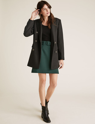 Marks and Spencer Belted Mini A-Line Skirt