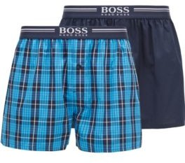 BOSS Two-pack of cotton pyjama shorts with logo waistbands