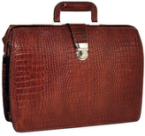 Jack Georges Classic Croco Embossed Briefbag