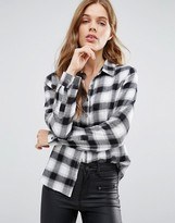 Blend She Black Mix Check Shirt