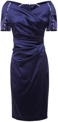 Talbot Runhof Moira Embellished Duchesse Satin Dress