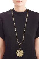 Aurelie Bidermann 18kt Yellow Gold-Plated Apple Long Necklace