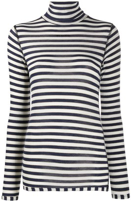 Pinko Striped Roll Neck Top