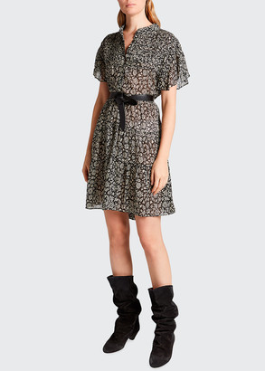 Etoile Isabel Marant Lanikaye Cotton Floral-Print Dress