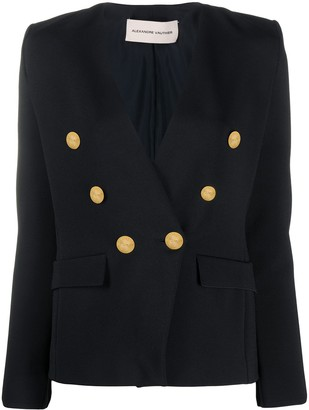 Alexandre Vauthier Collarless Double-Breasted Blazer