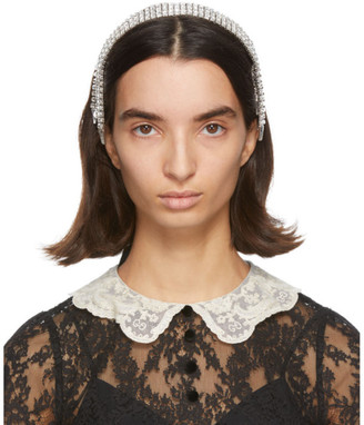 Gucci Silver Crystal Headband