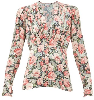 Paco Rabanne Floral-print Jersey Blouse - Multi