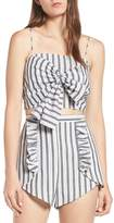 The Fifth Label Acacia Stripe Knotted Crop Top