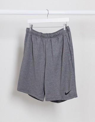 Nike Training fleece shorts in dark grey