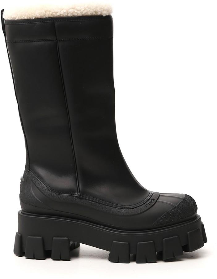 Prada Chunky Sole Platform Boots