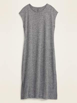 Old Navy Linen-Blend Jersey Midi T-Shirt Shift Dress for Women