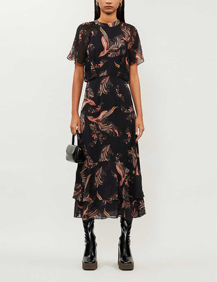Whistles Rose paisley-print crepe dress
