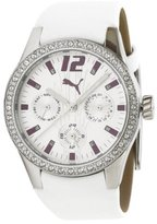 Puma Women's PU101972001 Tire Multifunction White Dial Watch