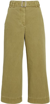 Proenza Schouler White Label Belted Washed Cotton Pants