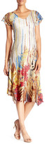 Komarov Flutter Sleeve Print Dress