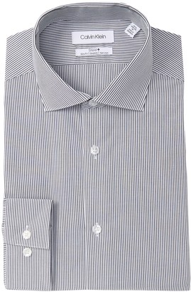 Calvin Klein Striped Slim Fit Dress Shirt