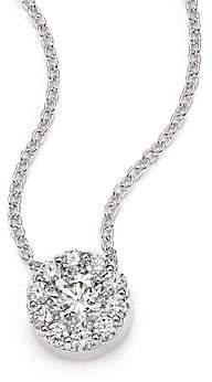 Hearts On Fire Women's Fulfillment Diamond & 18K White Gold Pendant Necklace