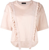 Diesel Black Gold frill trim top - women - Cotton - XS