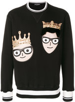 Dolce & Gabbana crowned designer patch jumper