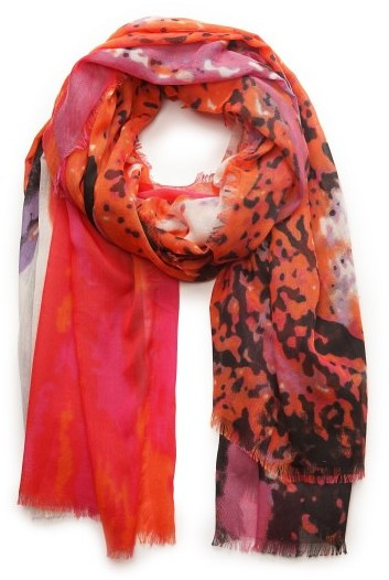 MANGO Outlet Watercolor Print Scarf