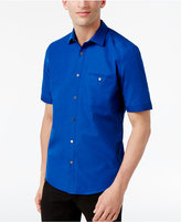Alfani BLACK Men's Blair Textured Micro-Stripe Cotton Shirt, Only at Macy's