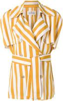 Maison Margiela striped trench jacket