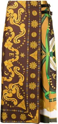 Versace scarf-style print midi skirt