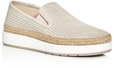 Donald J Pliner Maite Metallic Perforated Espadrille Slip-On Sneakers
