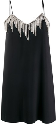 MSGM Crystal Chain-Trim Dress