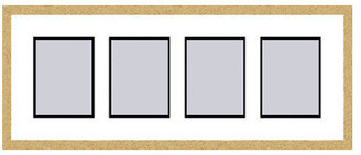Frames By Mail Gold Collage Picture Frame with 4 rectangle openings for 6X8 photos