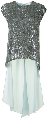 Sachin + Babi Marie sequinned panel blouse