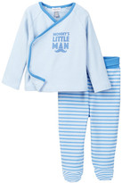 Absorba Mommy&s Little Man Kimono Top & Pant Set (Baby Boys)