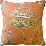 The Well Appointed House Tropical Design Pillow in Melon
