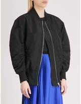 Mo&Co. Tulle-layer bomber jacket