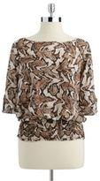 MICHAEL Michael Kors Patterned Kimono Top