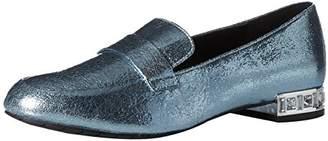 Kenneth Cole Reaction Women's Jet Behind Slip On Loafer Embellished Heel Flat