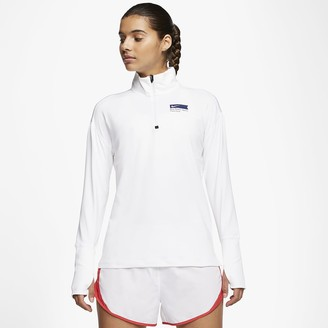 Nike Women's 1/2-Zip Running Top Element Blue Ribbon Sports