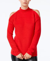 Bar III Ribbed Cold-Shoulder Sweater, Only at Macy's