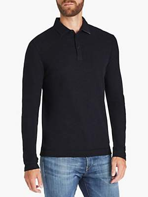 HUGO BOSS BOSS Prix Long Sleeve Slim Fit Polo Shirt