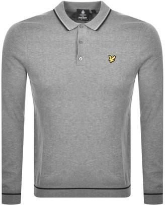 Lyle & Scott Knit Long Sleeve Polo Jumper Grey