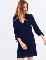 Whistles Joanna Tie Sleeve Dress