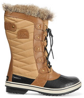 Sorel Tofino Waxed Canvas And Leather Boots - Camel