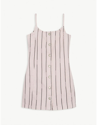 Calvin Klein Jeans Pinstripe cotton denim dress 4-16 years