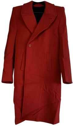 Balenciaga Red Wool Coats