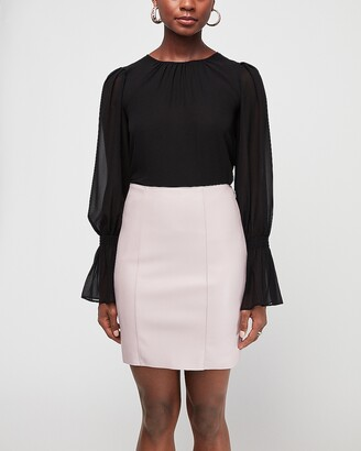 Express Vegan Leather Mid-Thigh Skirt