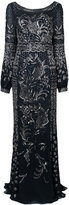 J. Mendel embellished drape back gown - women - Silk - 6